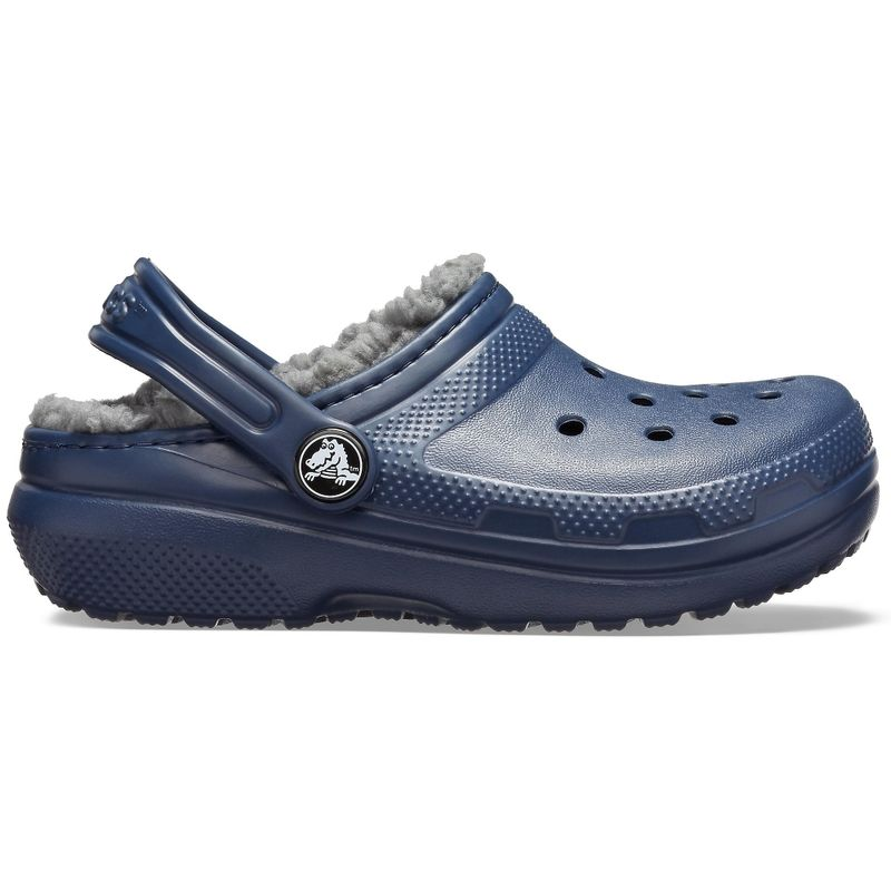 Kids�-Classic-Lined-Clog-color-Navy---Charcoal-color-Navy---Charcoal-talla-J2